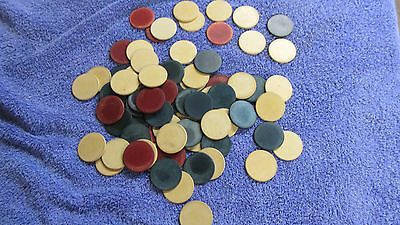 Vintage Lot of 70 Clay Poker Chips