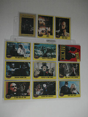 Batman Lot 11 Different Trading Cards O Pee Chee 1989 ( 2 Nd Series )