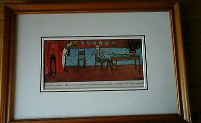 Vintage Signed French Hand Inked / Hand Painted Etching No 2