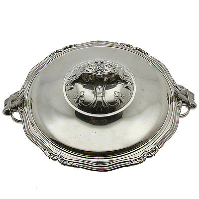 PUIFORCAT Sterling Silver Vegetable Covered Dish 8 in Bowl No Monogram