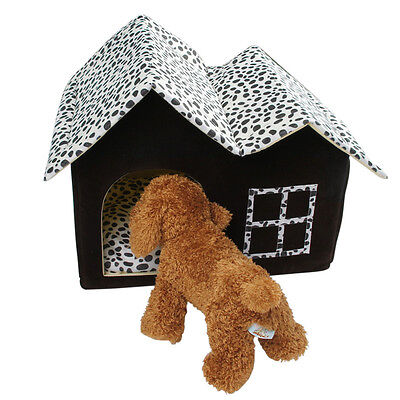 Luxury Spot Double Top Portable Pet House Dog Cat Sleep Bed Warm Cozy Puppy Bed