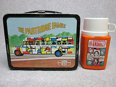1971 PARTRIDGE FAMILY  LUNCHBOX & THERMOS Tv Music,Psychedelic HIGH-GRADE C#9