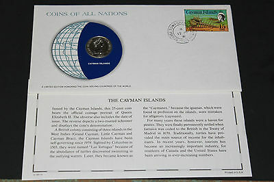 Cayman Islands Coins Of All Nations 1980 25 Cent  Coin Unc
