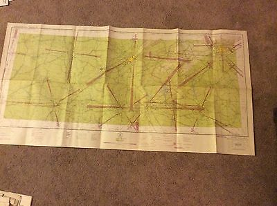 March 30, 1944 WWII Pilot's Sectional Aeronautical Chart of Birmingham, Ala.