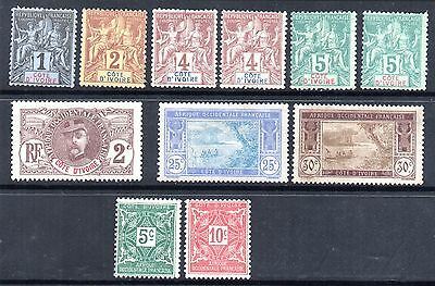 Ivory Coast Selection 1892; 1906; 1930 & 1914 Post Dues.  MM