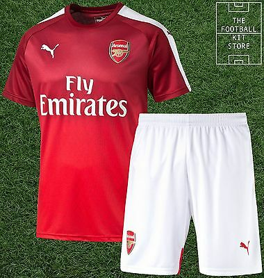 Arsenal Training Kit - Official Puma Shirt & Shorts  - Boys - All Sizes