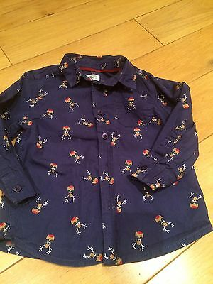 Lovely Boys Rudolf Smart Christmas Shirt Age 18-24 Months