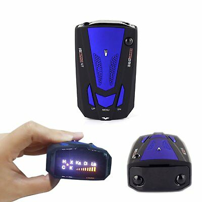 Anti-Police 360° In Car Full 16 Band V7 Blue GPS Speed Safety Radar Detector
