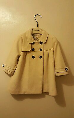 genuine Burberry girls coat age 12 months