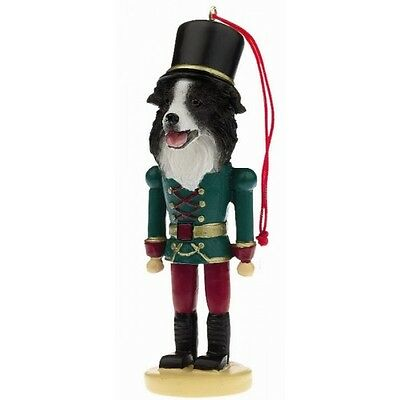 Border Collie Dog Toy Soldier Nutcracker Christmas Ornament