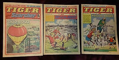 Tiger Comic & Roy of the Rovers 1972 1974 1975 Rangers ECWC