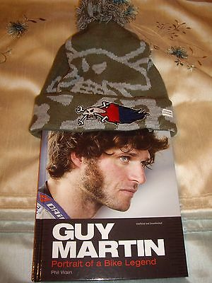 Guy Martin Superfuse Vulcan bobble hat and race history book