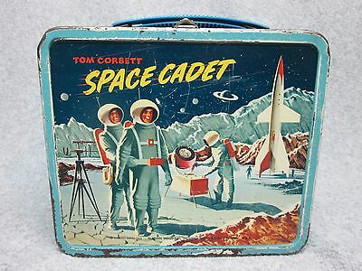 1954 TOM CORBETT on the MooN SPACE CADET FuLL LiTHO LUNCHBOX  Condition #7.5