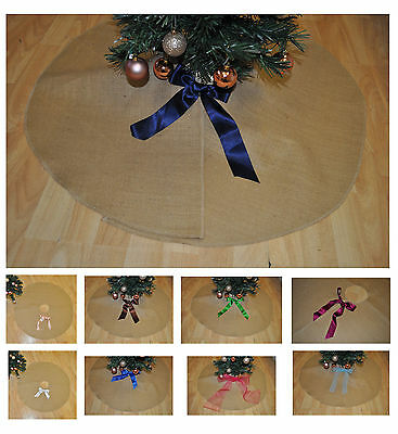 Large Jute Christmas Treeskirt Cover Christmas Tree Skirt Xmas Tree  Cover