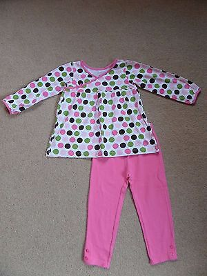 FABULOUS Girl's CARTER'S Outfit Age 4 Swing Top & Leggings From USA Pink Spots