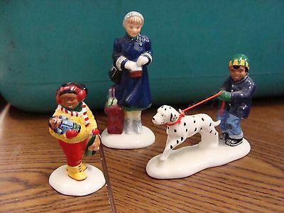 Department 56 Snow Village Lot of 3 Shopping Figures**FREE SHIPPING!!