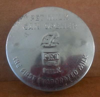 """Pet Milk Can Opener Punch 3"""" Embossed """"The first Evaporated Milk"""" Advertising"""
