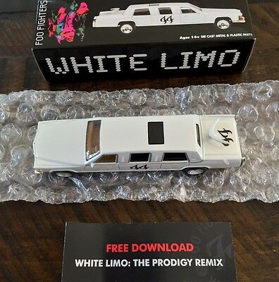 New Foo Fighters Die-Cast White Limo Driven By Lemmy in Video With Insert