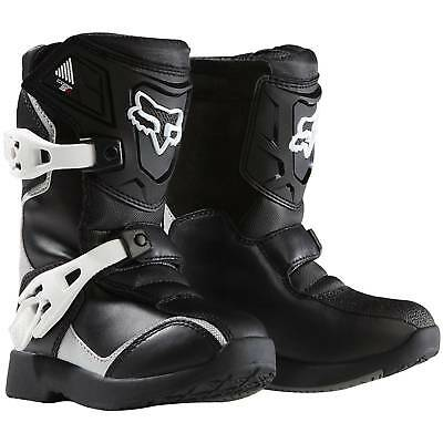 NEW Fox Racing Mx Comp 5K Black Peewee Dirt Bike Kids Toddler Motocross Boots
