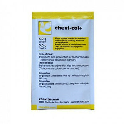 Pigeon Product - Chevi-Col+ - 6 sachet by Chevita - for Racing Pigeons