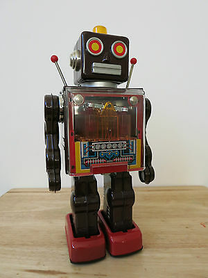 Metal House - PISTON ROBOT - Tin Space Toy - Japan - LIMITED EDITION