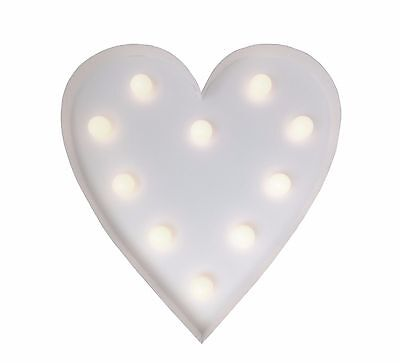 LED Heart Love Shaped Light Battery Operated Wall Home Kids bedroom Decoration