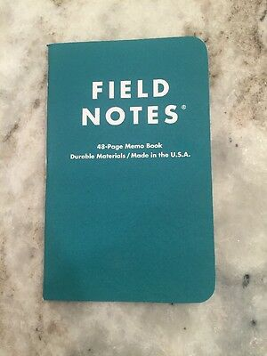 Field Notes Bluegrass Cellular Custom Edition Branded Single Memo Book - NEW