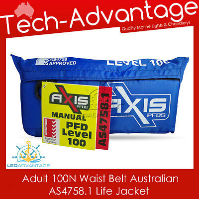 Adults 100N Waist Belt Offshore Pfd Inflatable Boat Life Jacket - Aus Approved