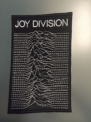 """JOY DIVISION LOGO UNKNOWN PLEASURES- Embroidered Iron On Patch 3"""" x 4 1/2"""".."""