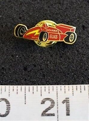 2001 Red Indy Race Car Indiana Elks Club BPOE Hat Lapel Pin #7531
