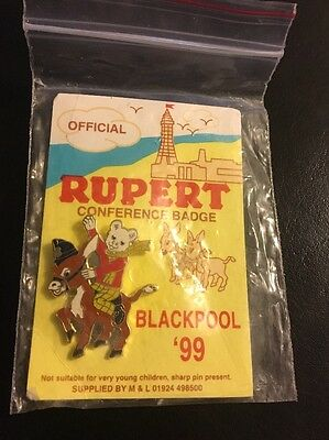 Rupert Police Charity Pin Badge - Conference 1999 Donkey - Limited Edition