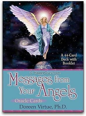 MESSAGES FROM YOUR ANGELS DOREEN VIRTUE  44 ORACLE CARDS and guidebook