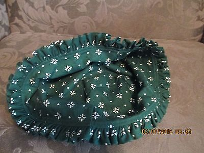 Longaberger Address Basket Liner Only - Oe Traditional Or Class Green Pattern