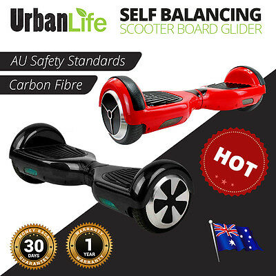 NEW Two Wheel Electric Glide Board Scooter, UL CERTIFIED, Ops Manual, Red//Black