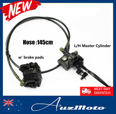 Hydraulic Rear Disc Brake Caliper System + Pads 110cc 125cc Quad Dirt Bike ATV
