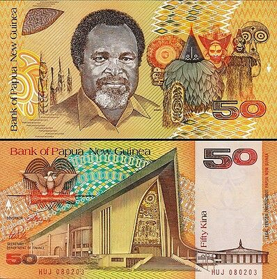 PAPUA NEW GUINEA 50 Kina 1980s PNG Uncirculated UNC Rare