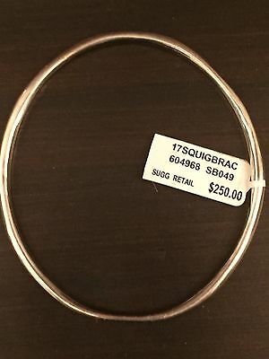 Ippolita Hammered Bangle Silver Bracelet NWT $250 Retail