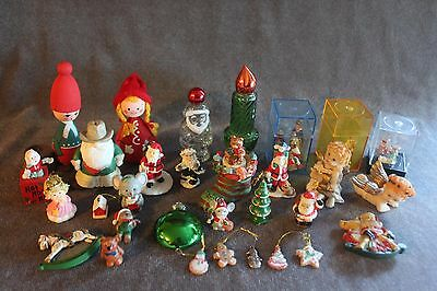 35 Vintage Misc. Christmas Holiday Decorations Angels-Mouse-Bear-Santa Crafts