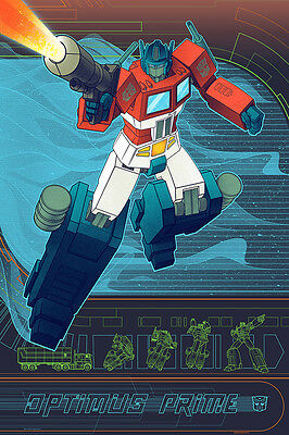 Transformers Optimus Prime 2012 Screen Print By Kevin Tong PP Edition Hasbro