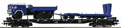 Roco 67552, Stake wagon DB-AG, THW LKW MAN with trailer, neworiginal packaging