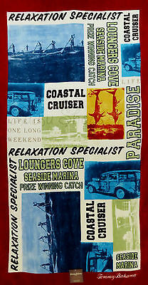"""Tommy Bahama Paddleboard Squares Beach Towel 35"""" x 66"""""""