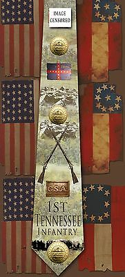 New1st Tennessee Infantry poly satin neck tie