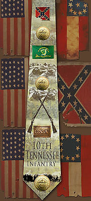 New 10th Tennessee Infantry poly satin neck tie