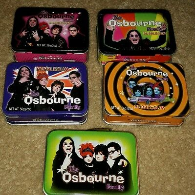 Ozzy Osbourne Miniature Lunch Box Tins (Lot of 5)