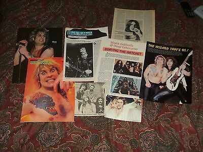Ozzy Osbourne 7-8 page clippings photo lot Bark at the Moon Black Sabbath look