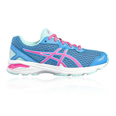 Asics GT 1000 5 GS Junior Girls Blue Running Road Sports Shoes Trainers