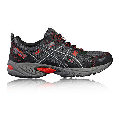 Asics Venture 5 Mens Black Trail Running Sports Shoes Trainers Pumps