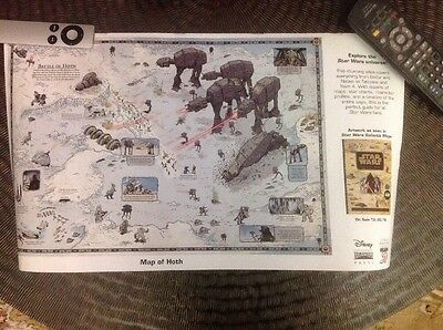 """Map of Hoth Star Wars 19"""" x 11"""" Poster 2016 NYCC Galactic Maps"""