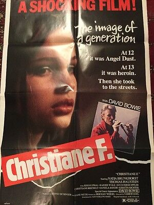 Poster Bowie Soundtrack CHRISTIANE F Original Movie One Sheet Poster 1981