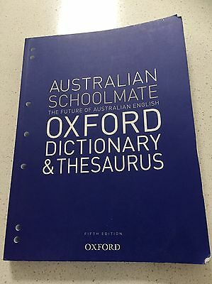 Australian Schoolmate Oxford Dictionary And Thesaurus Fifth Edition 2013